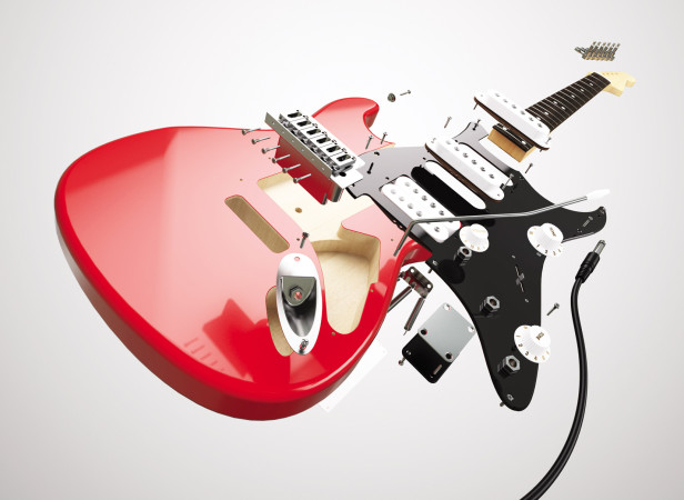 Exploded Guitar