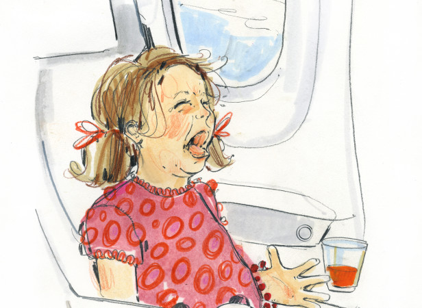 Screaming Child On Plane