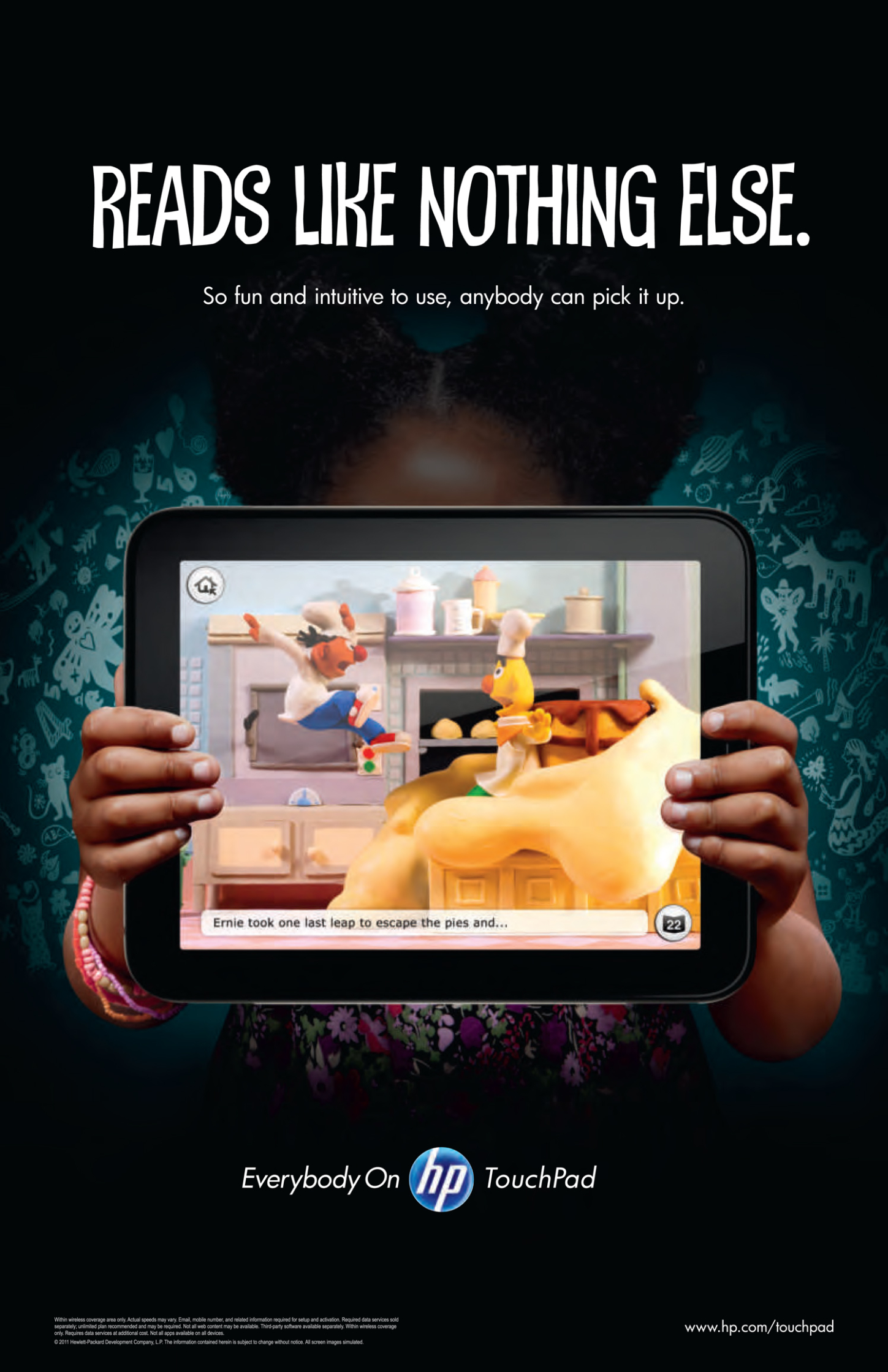 HP Touch Pad / Child Ad