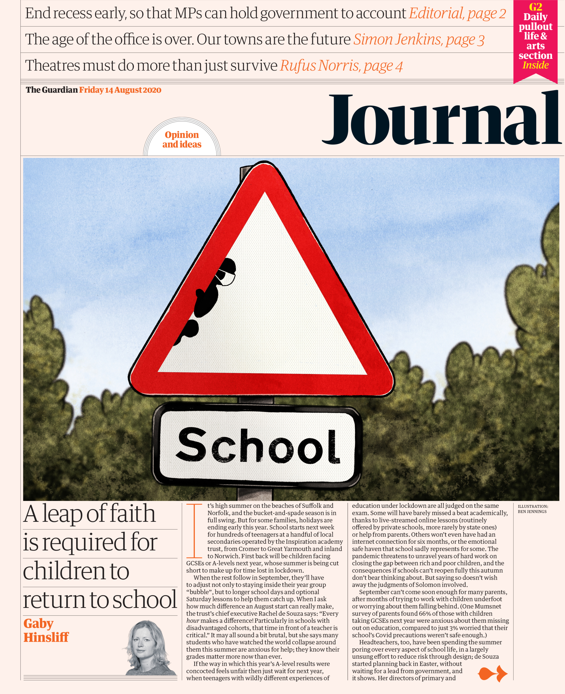 The Guardian � Journal front � 14 August 2020.jpg