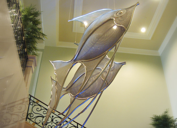 Equilibrium Angelfish Sculpture Ritz Carlton Grand Caymen