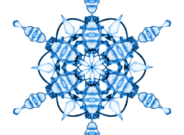 Lenticular Snowflake 2