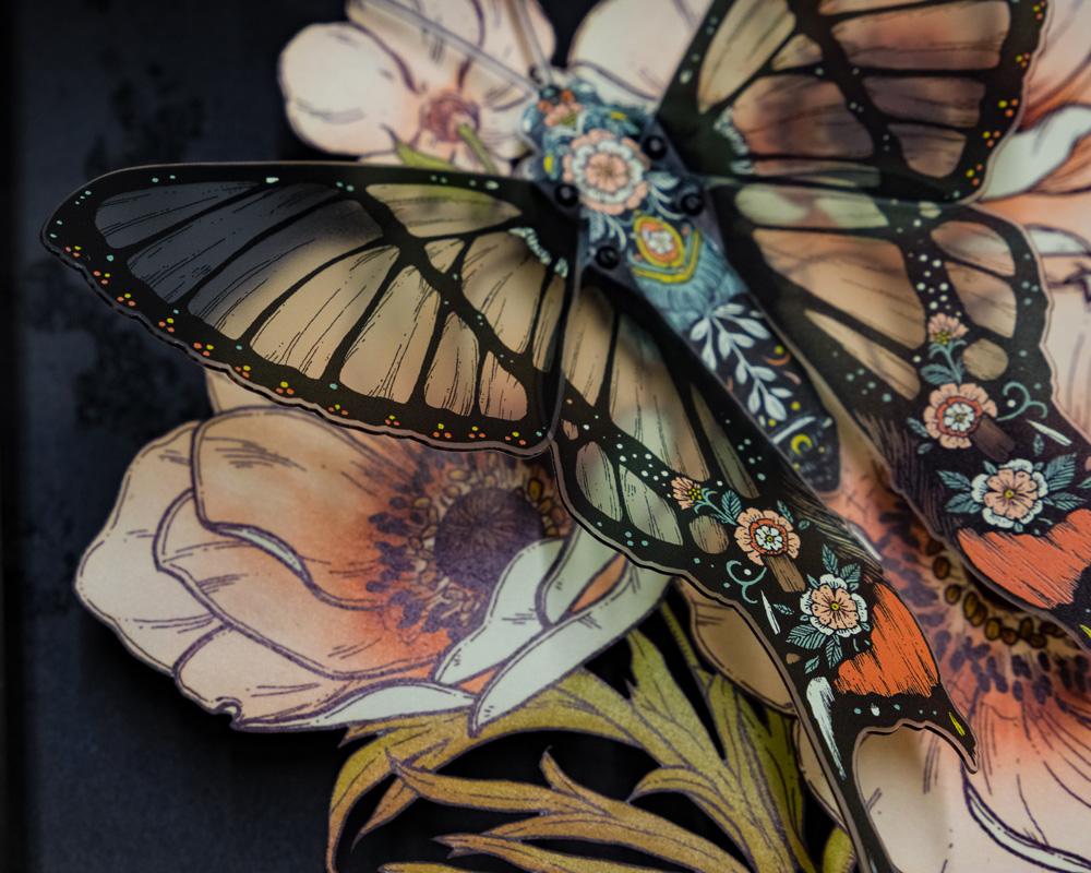 Stipple Pop - Andean Bee Butterfly Shadowbox III - Erica Williams.jpg