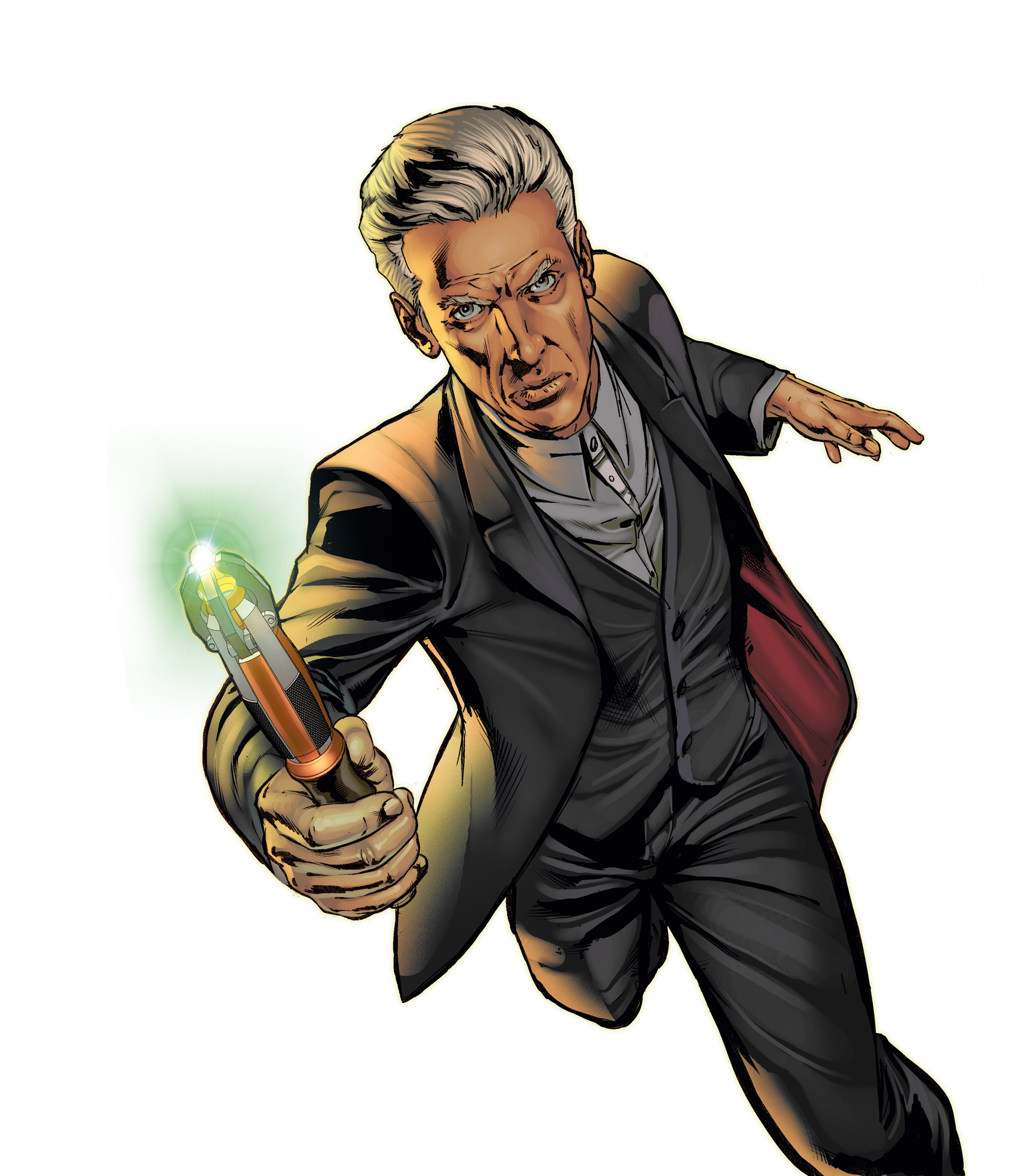 The Twelfth Doctor And Sonic Screwdriver Neil Edwards Debut Art