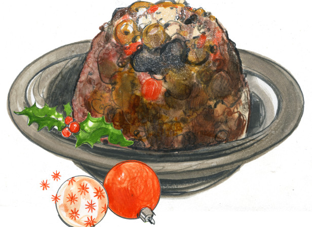 Ocado christmas pudding illustration.jpg