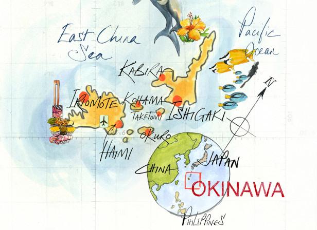 Okinawa Map Conde Nast Traveller Magazine