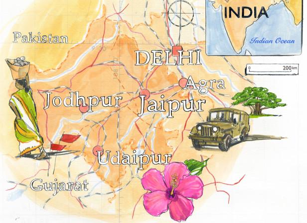 Rajasthan Map Conde Nast Traveller Magazine