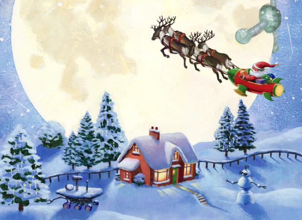 Christmas Santa Sleigh New Statesman