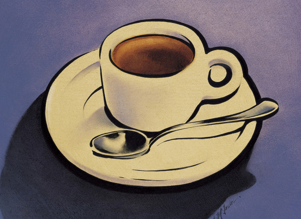 Espresso Cafe and Bar Coffee Vintage Italian Poster