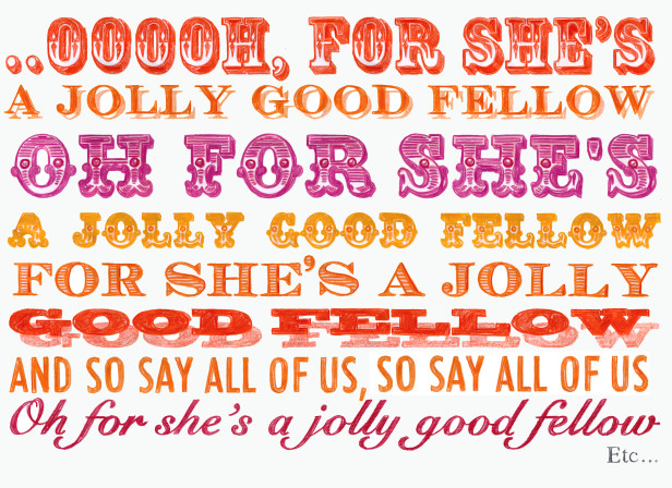 For She's A Jolly Good Fellow Greeting Card