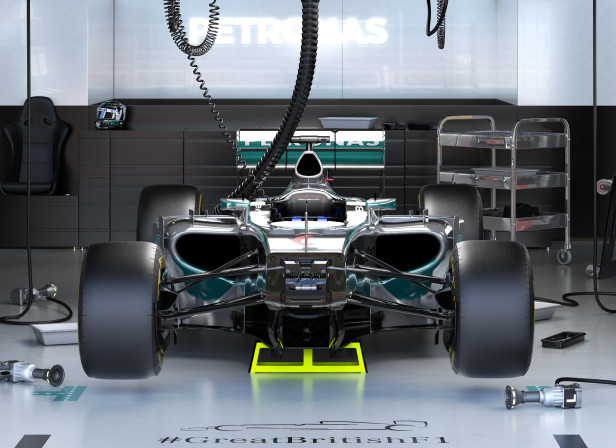 Mercedes F1 Full Shot