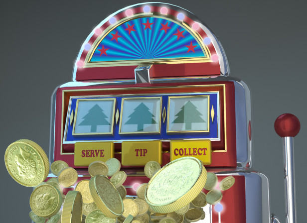 One Armed Bandit Gambling Machine