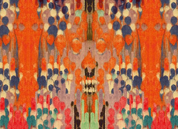 Wallpaper Print Santa Muerte