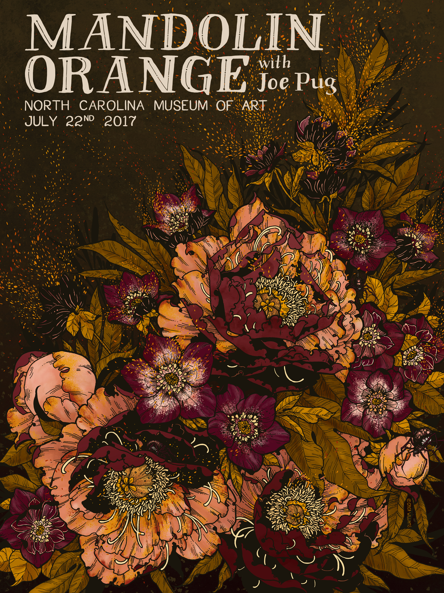 Mandolin Orange - North Carolina Museum of Art - Screen Print Poster - Erica Williams.jpg