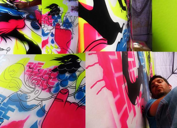 Glastonbury Live Painting