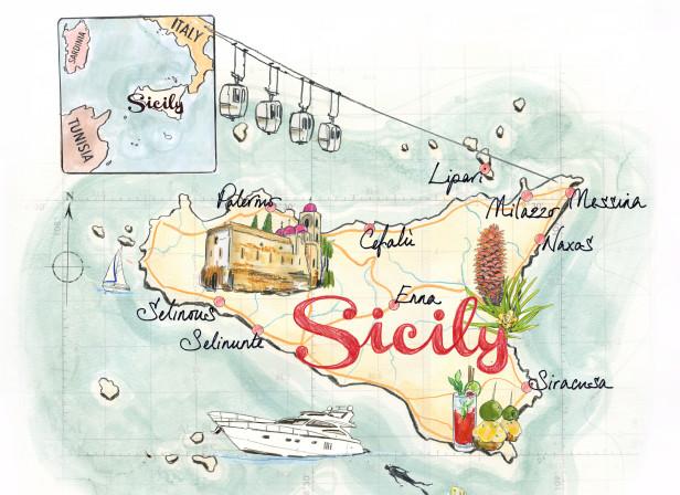 Sicily Literary Map