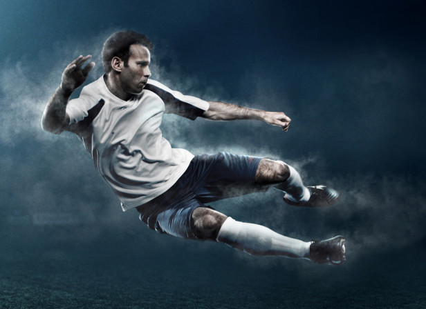Ryan Giggs In Flight