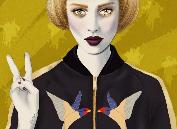 Stella McCartney Swallow Bomber Jacket Peace
