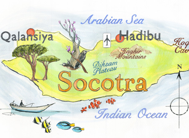 Socotra Map / Conde Nast Traveller