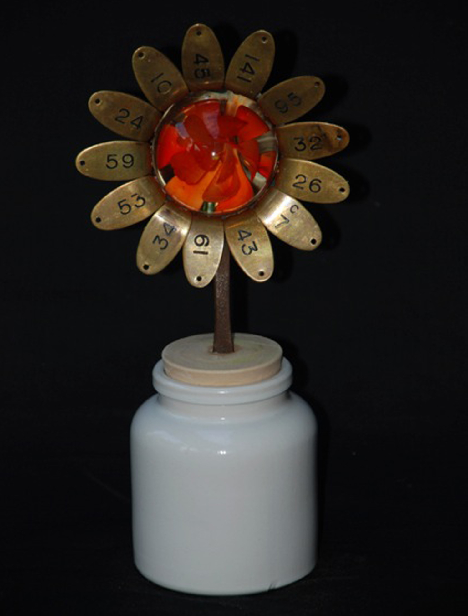 Orange Flower Reclaimed Objects