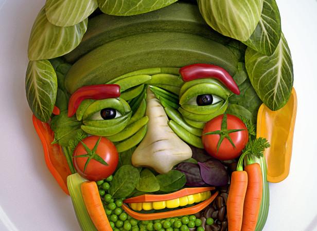 Dr Oz Vegetable Portrait Esquire Magazine
