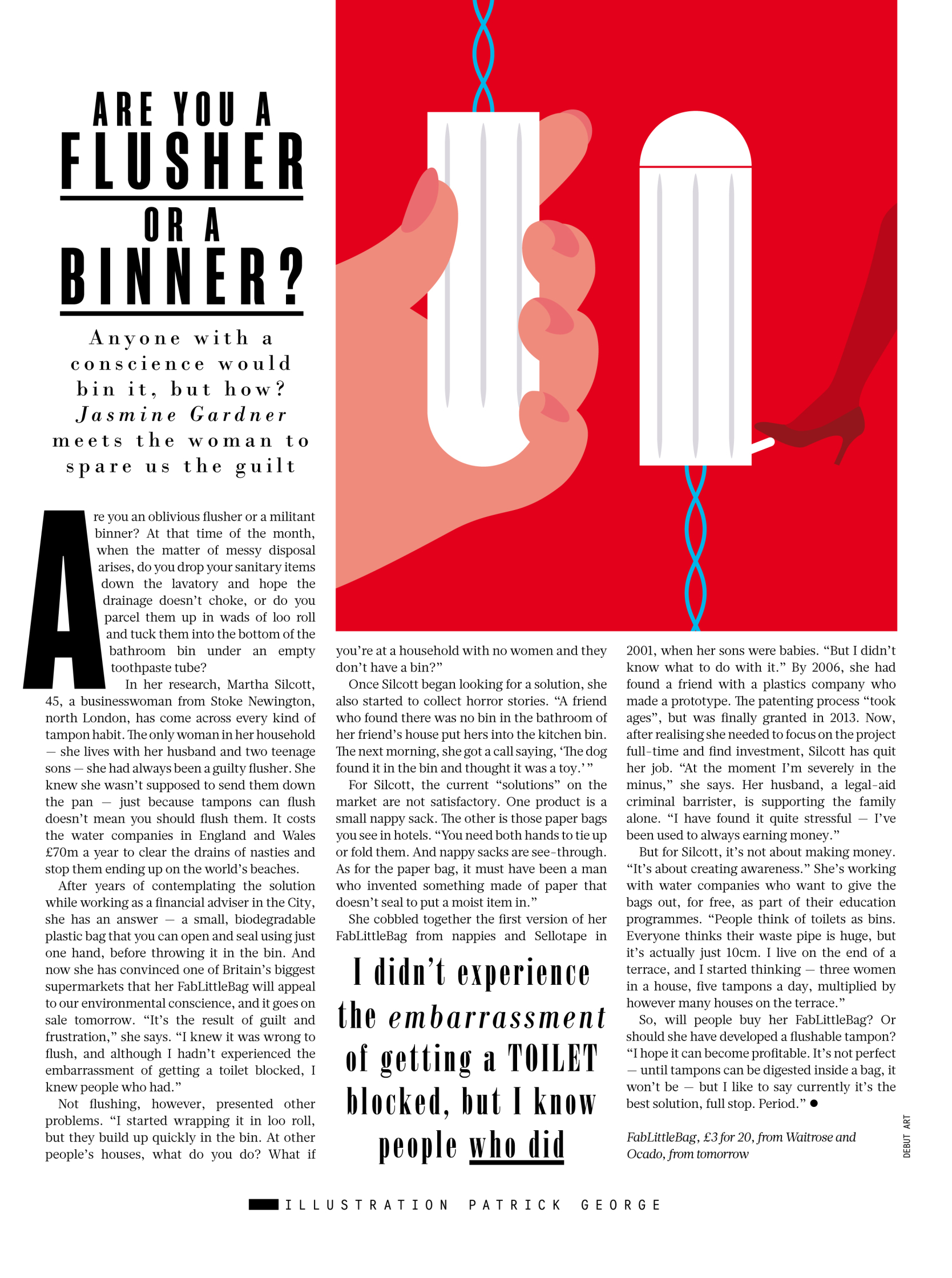 Tampon Disposal Sunday Times Style
