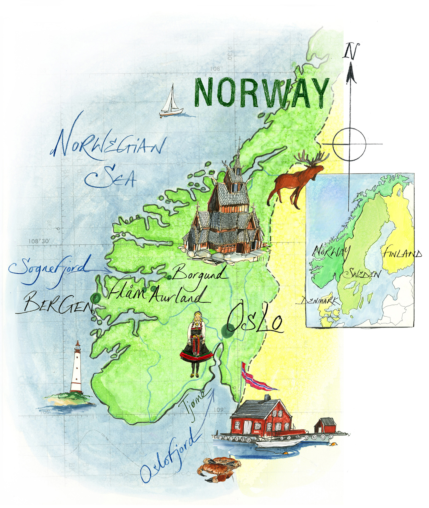 Norway Map / The Times Travel