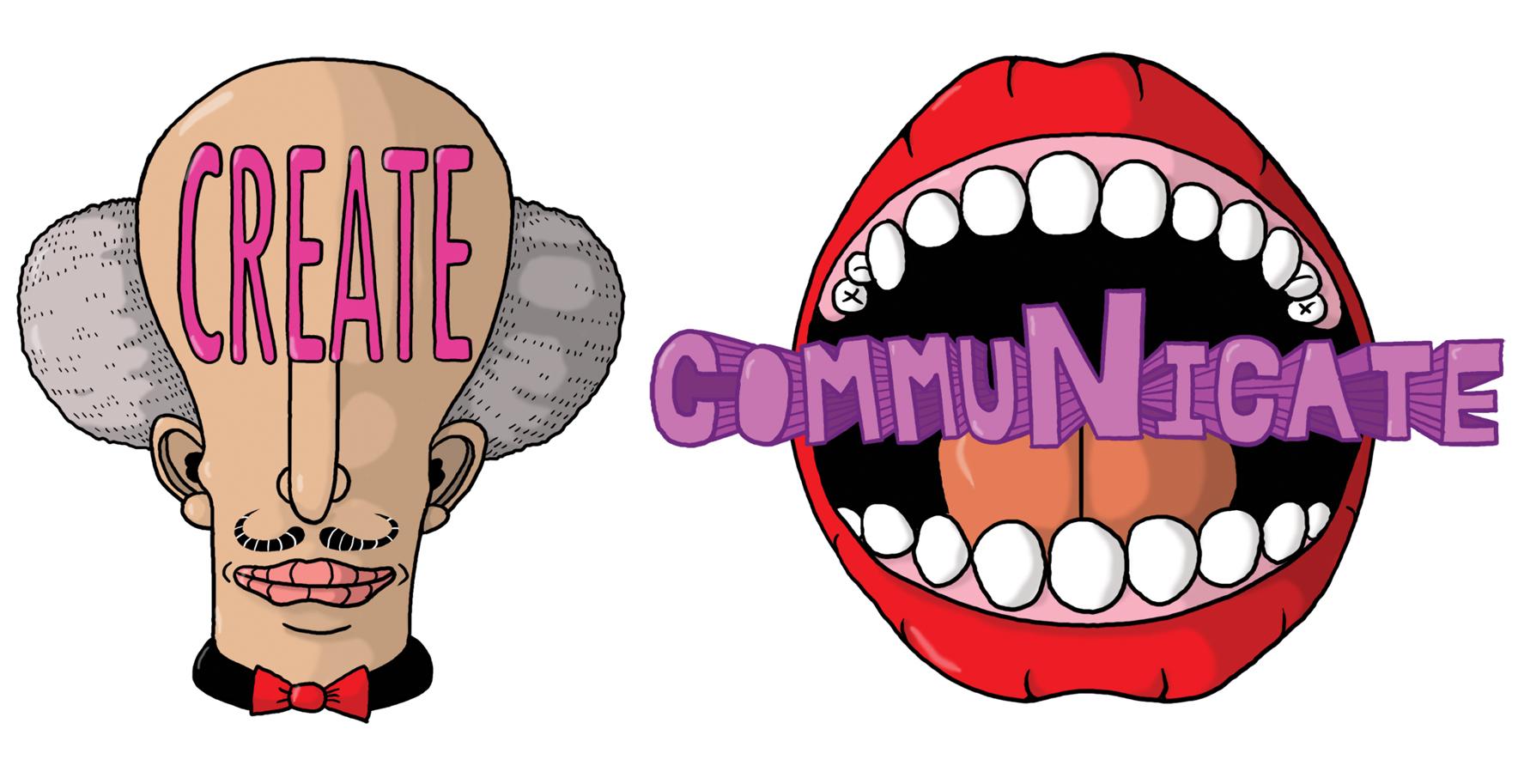 Create Communicate Logos