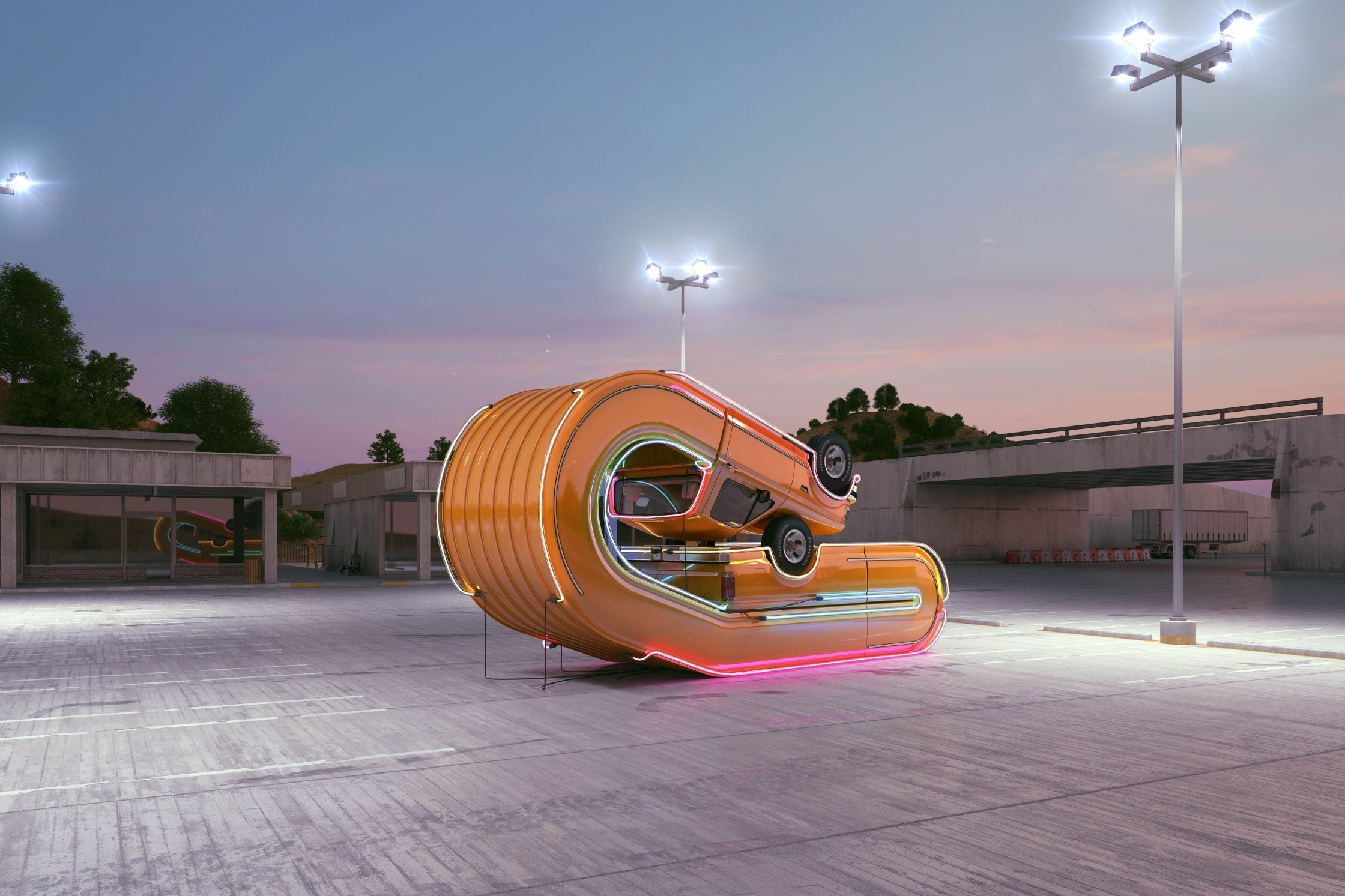 Neon Pickup / Tales Of Auto Elasticity