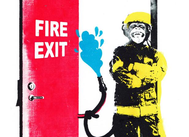 roomzzz_fire_escape_fire_service_monkey_hose_pipe_screenprint_katie_edwards_illustration.jpg