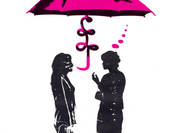 under_the_sales_umbrella_mary_rose_sellman_sales_advice_screenprint_katie_edwards_illustration.jpg