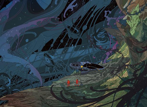 Digital Graphic Art Surreal Artist Work Sci Fi Art on Metal