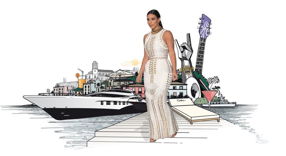 Kim Kardashian In Ibiza / Jetaway Magazine