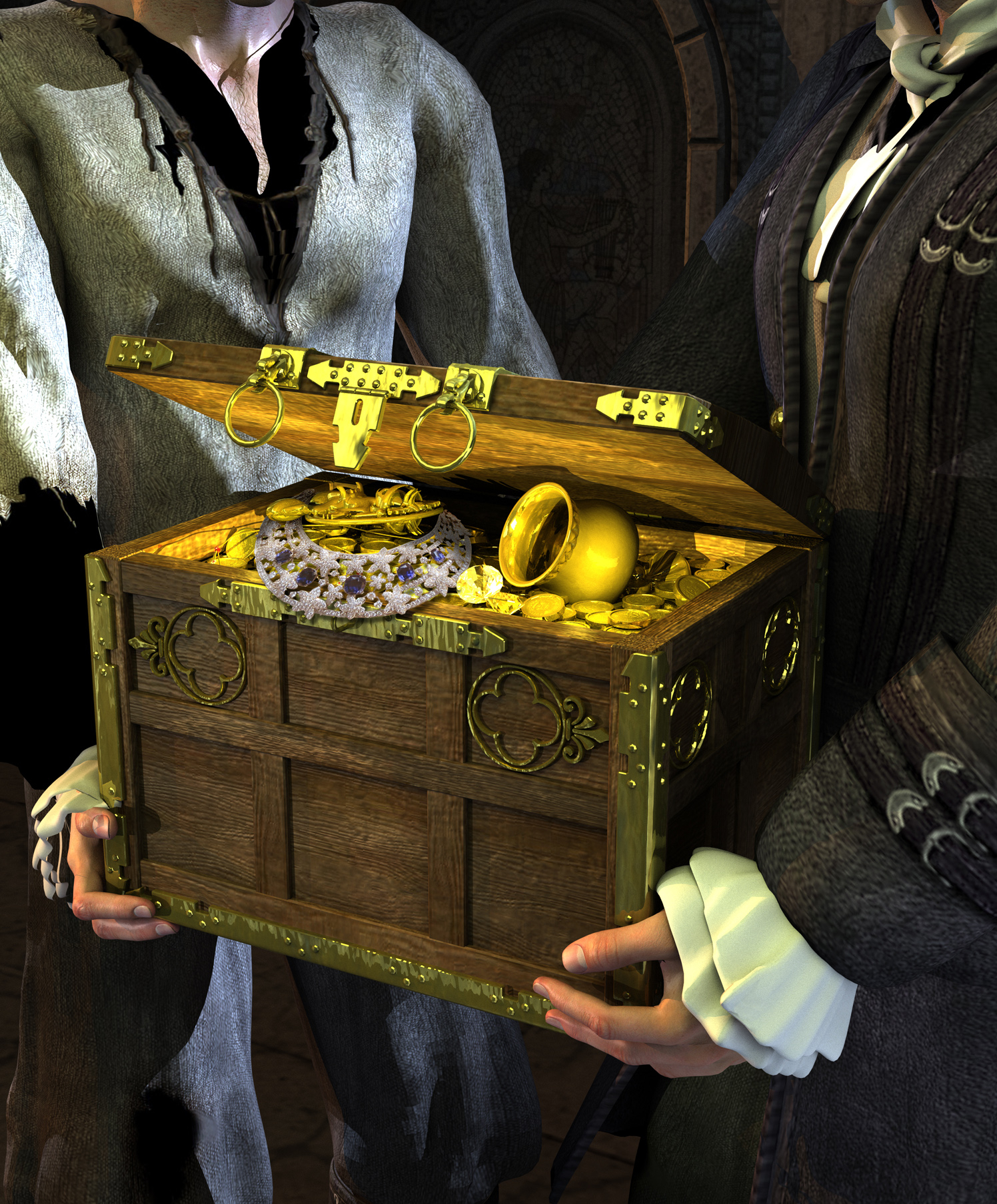 Pirate Treasure Chest Book Cover