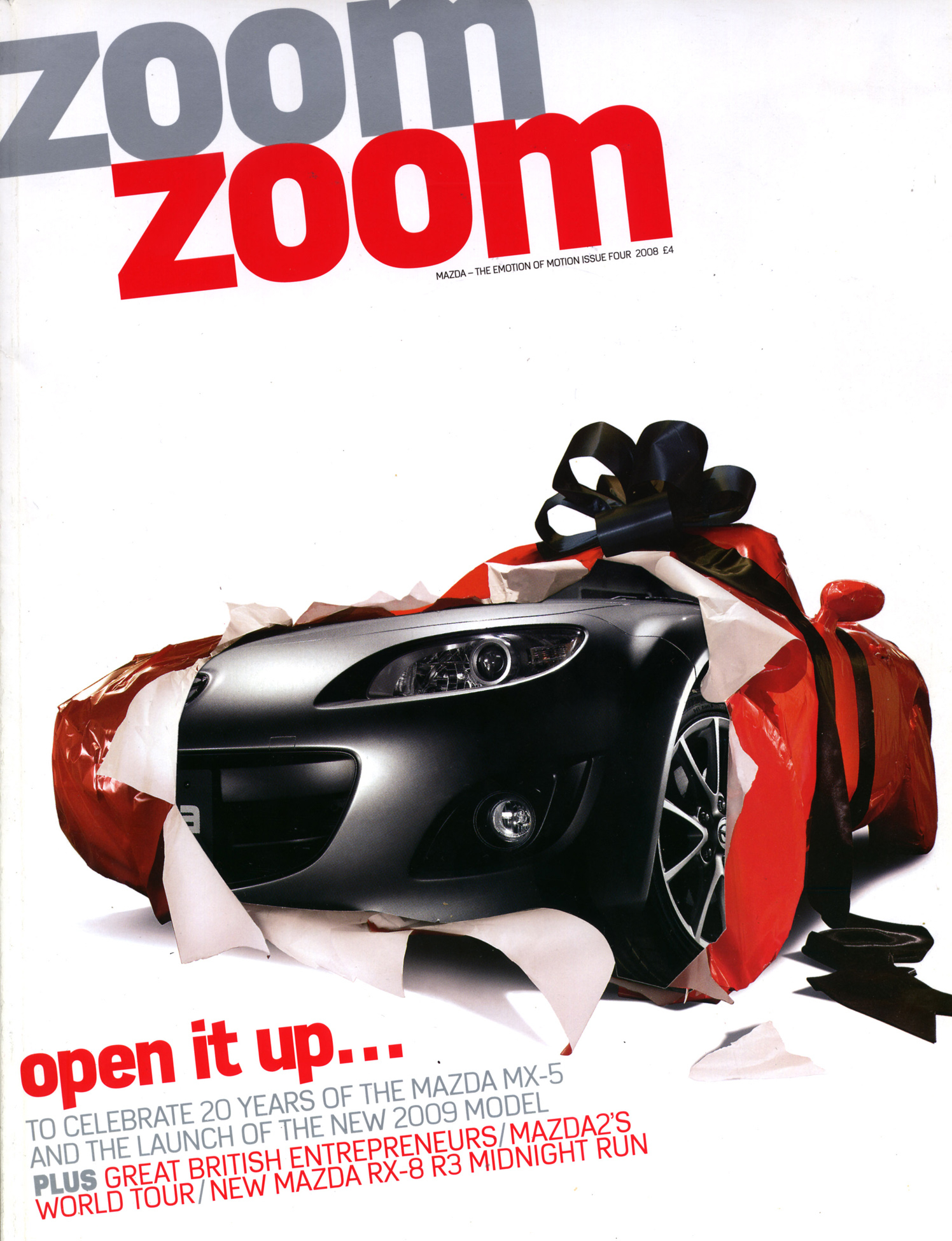 mazda zoom zoom magazine - paper work - debut art