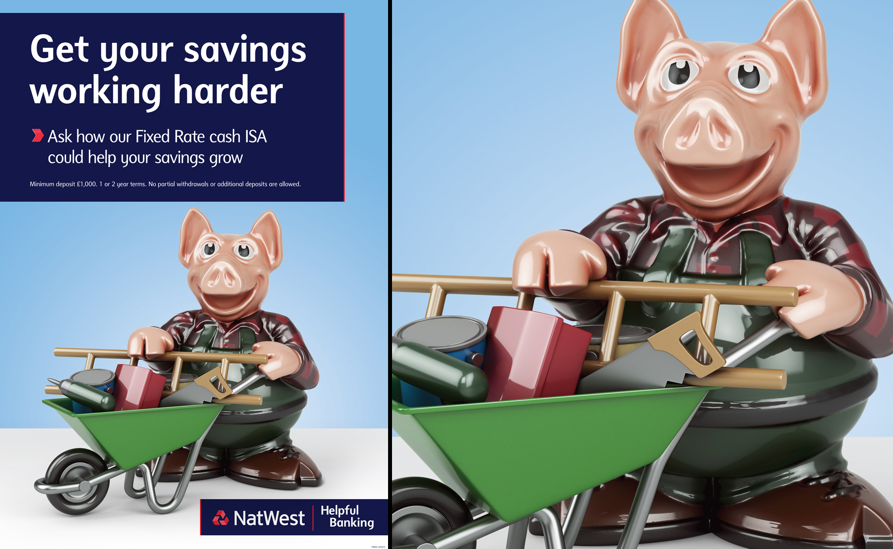 Natwest Pigs Working Harder