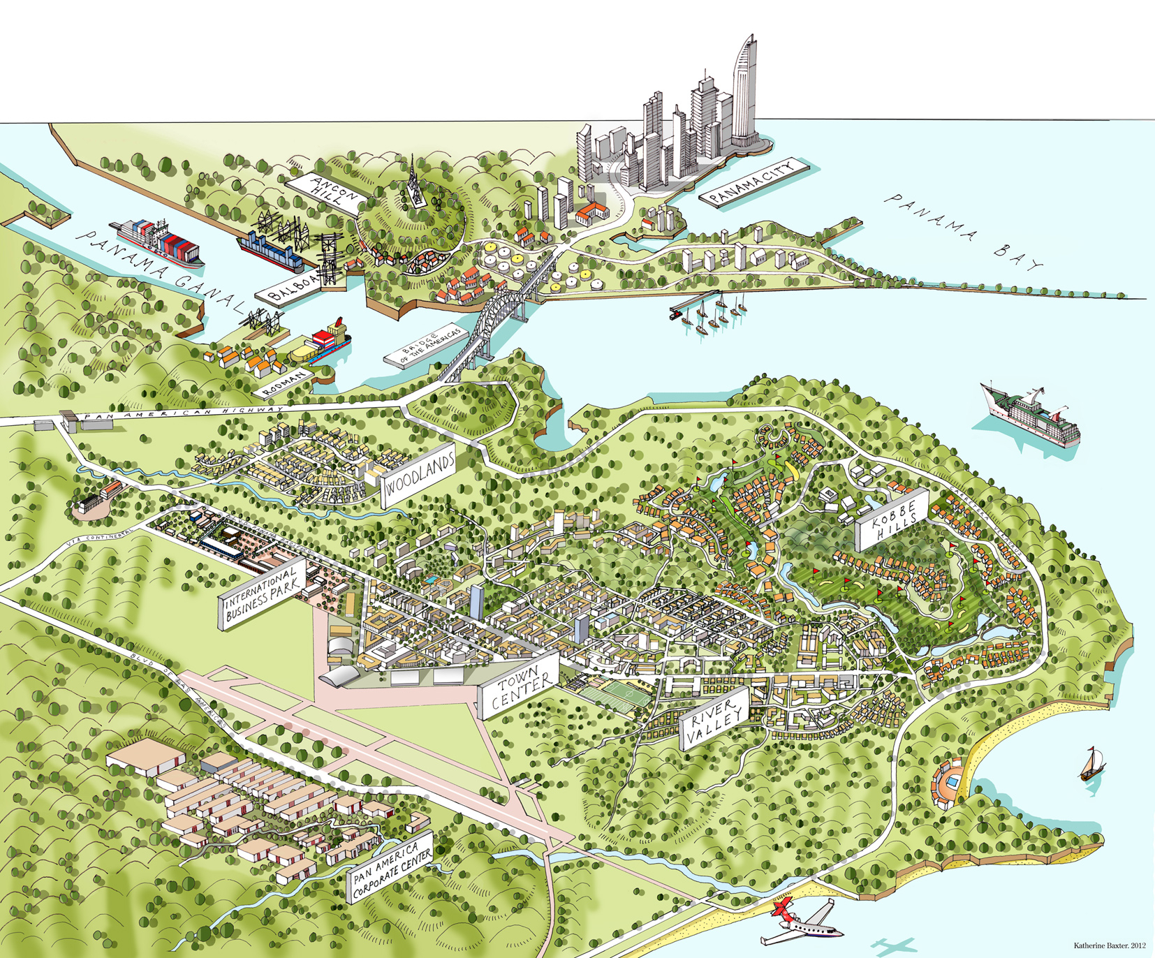 Panama Map / Panama Pacifico Development