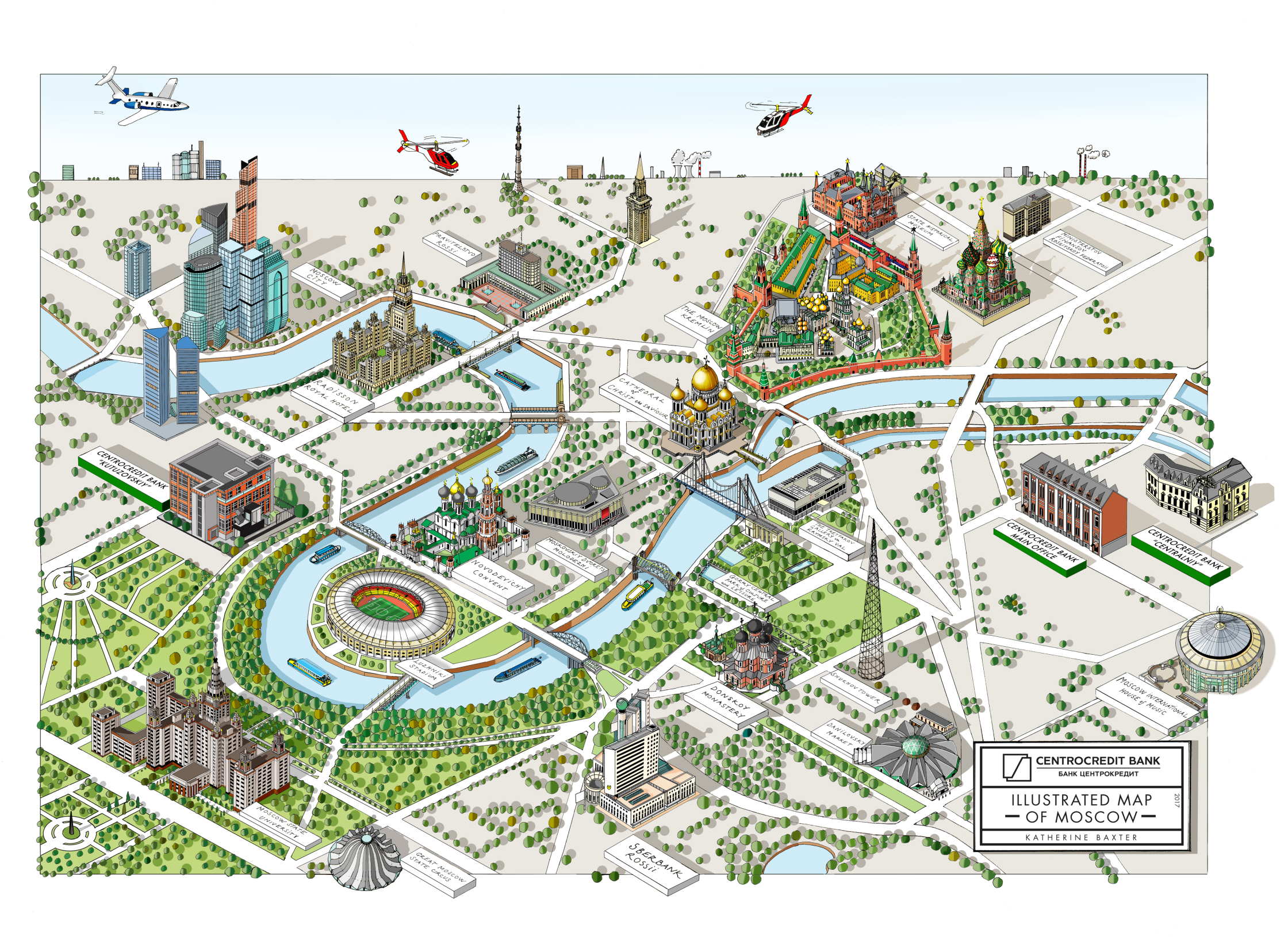 Moscow Map - Katherine Baxter - Debut Art