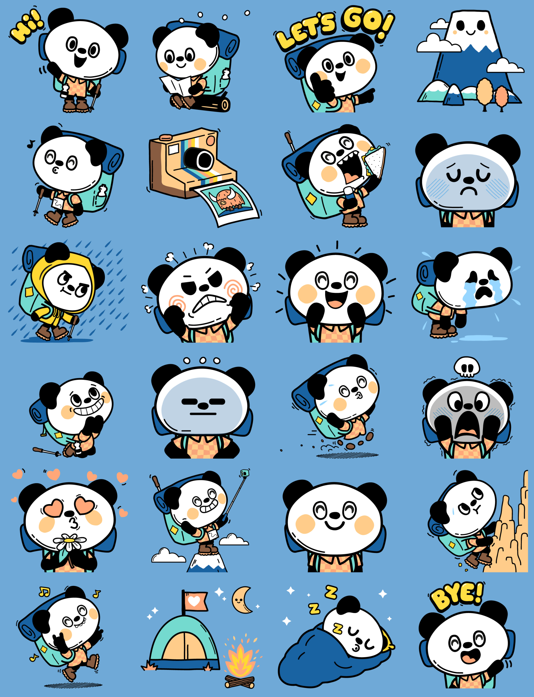 Yama Panda Emoji Stickers