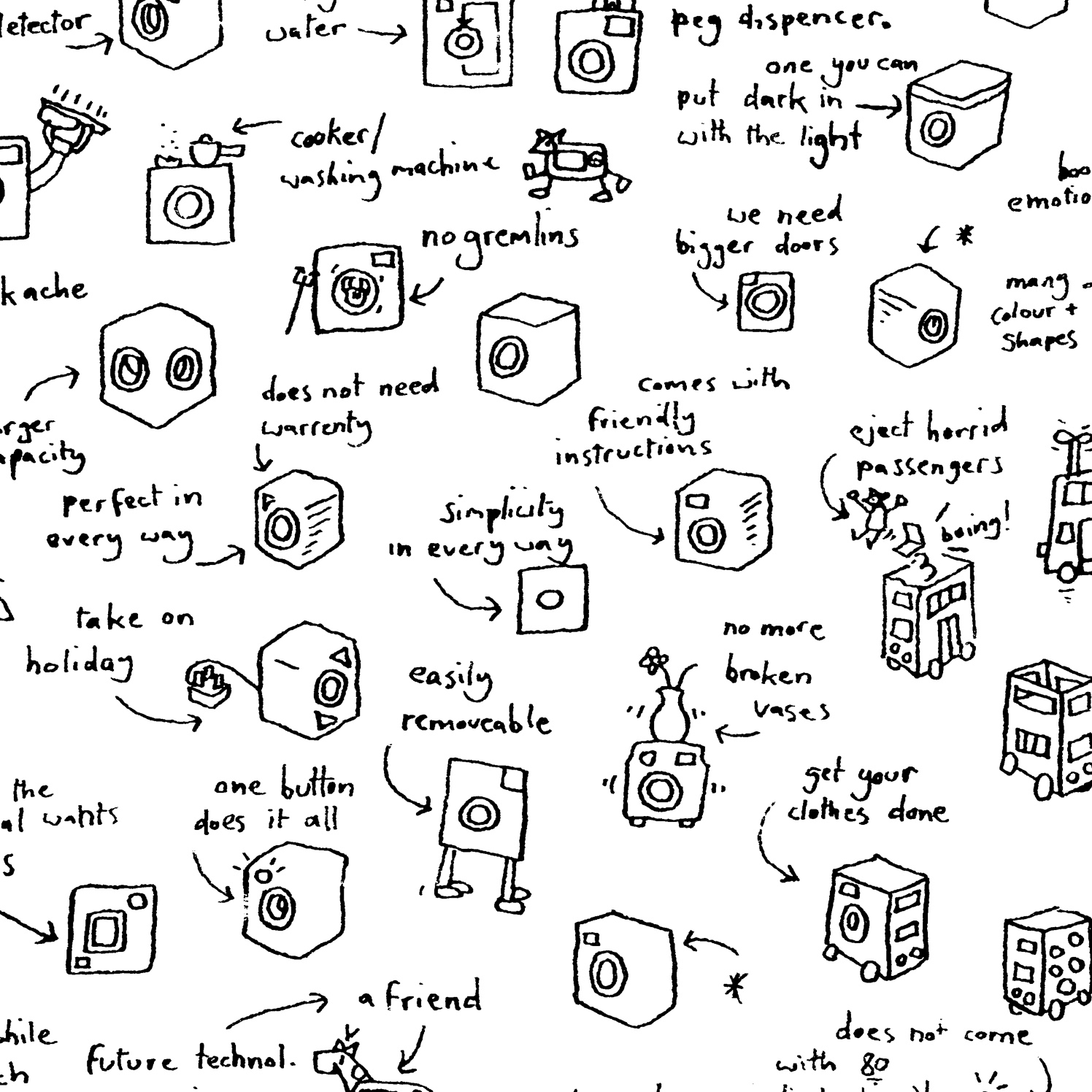 Brainstorm Hand Drawn Washing Machine