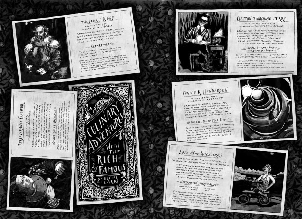 Biographical Dark Recipe Cards