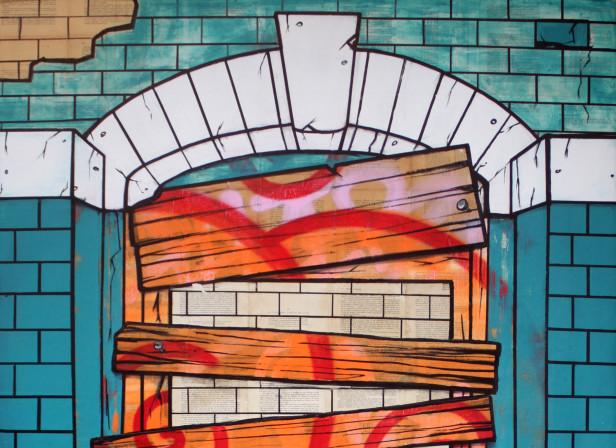 02_Derelict Doorway_BookPageMural_Roma_MexicoCity.jpg