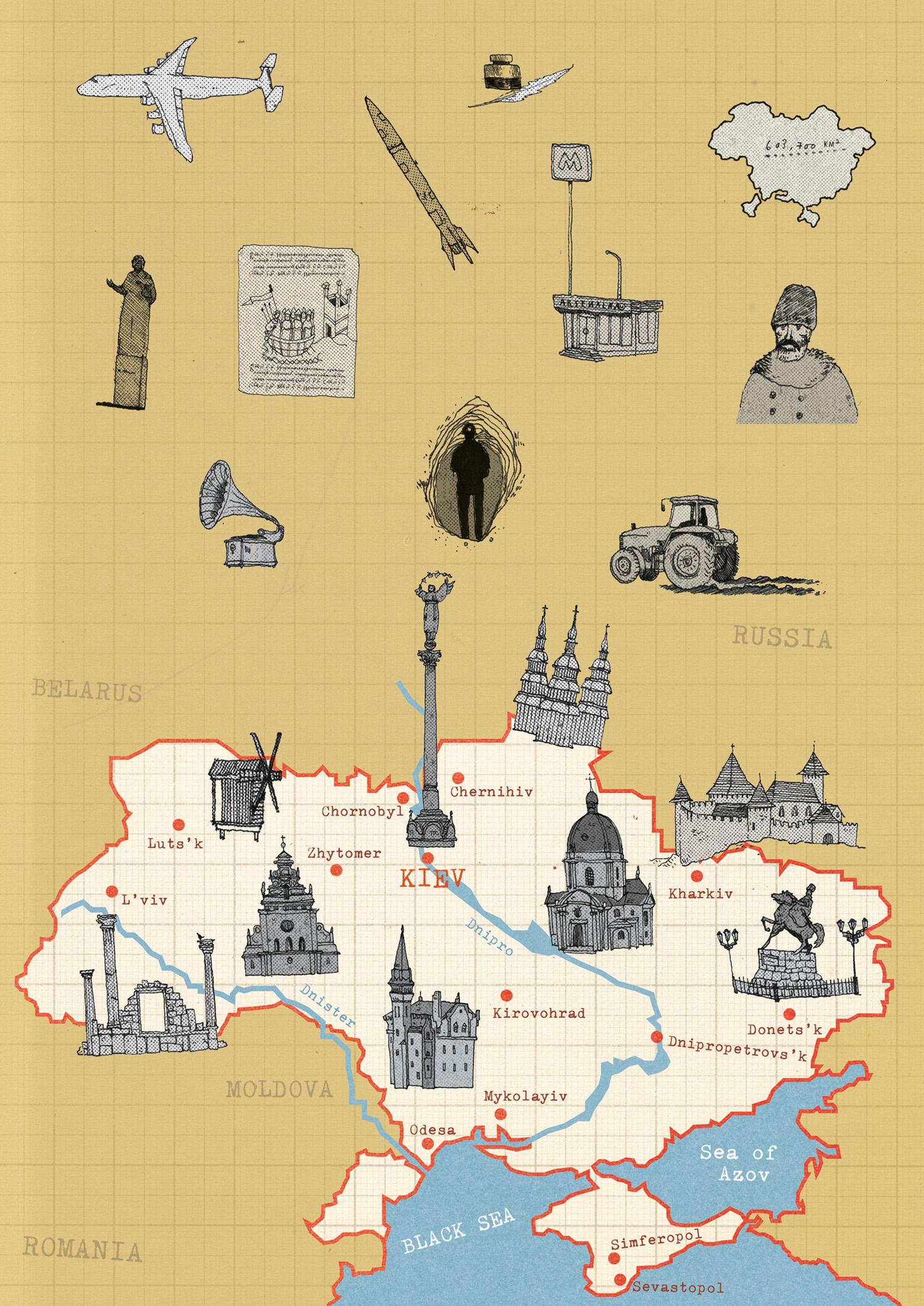 Ukraine Map For OSCE Magazine