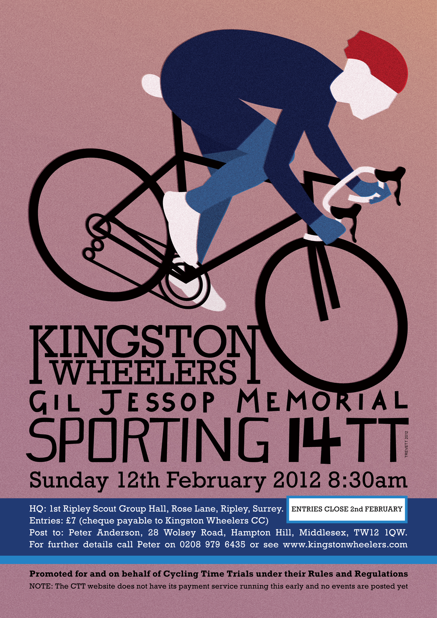 Kingston Wheelers Cycling Poster
