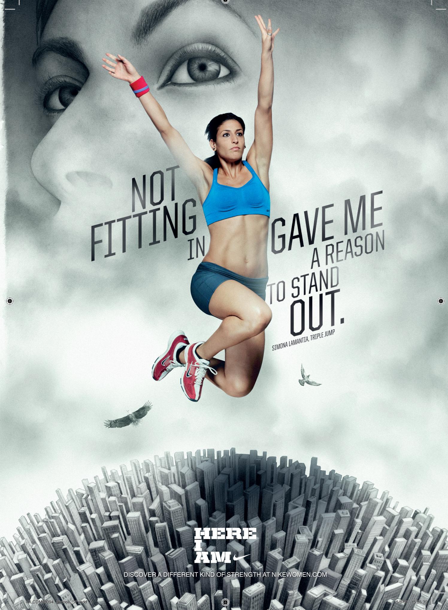 Woman Cloud Portrait On Nike Poster