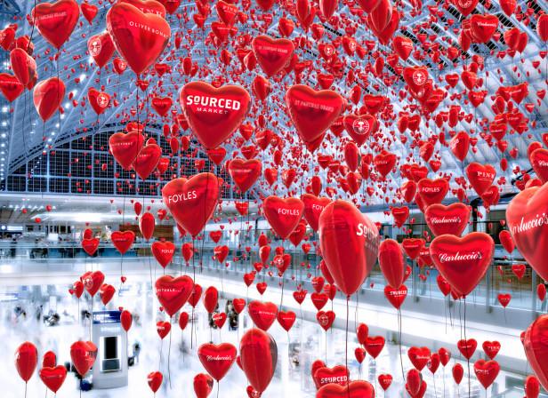 St Pancras Valentine's Day Spread
