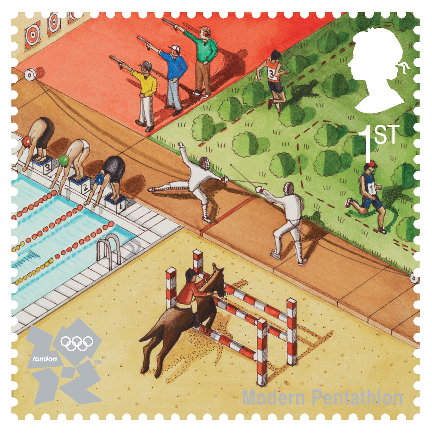 Pentathlon Stamp / Royal Mail Stamp
