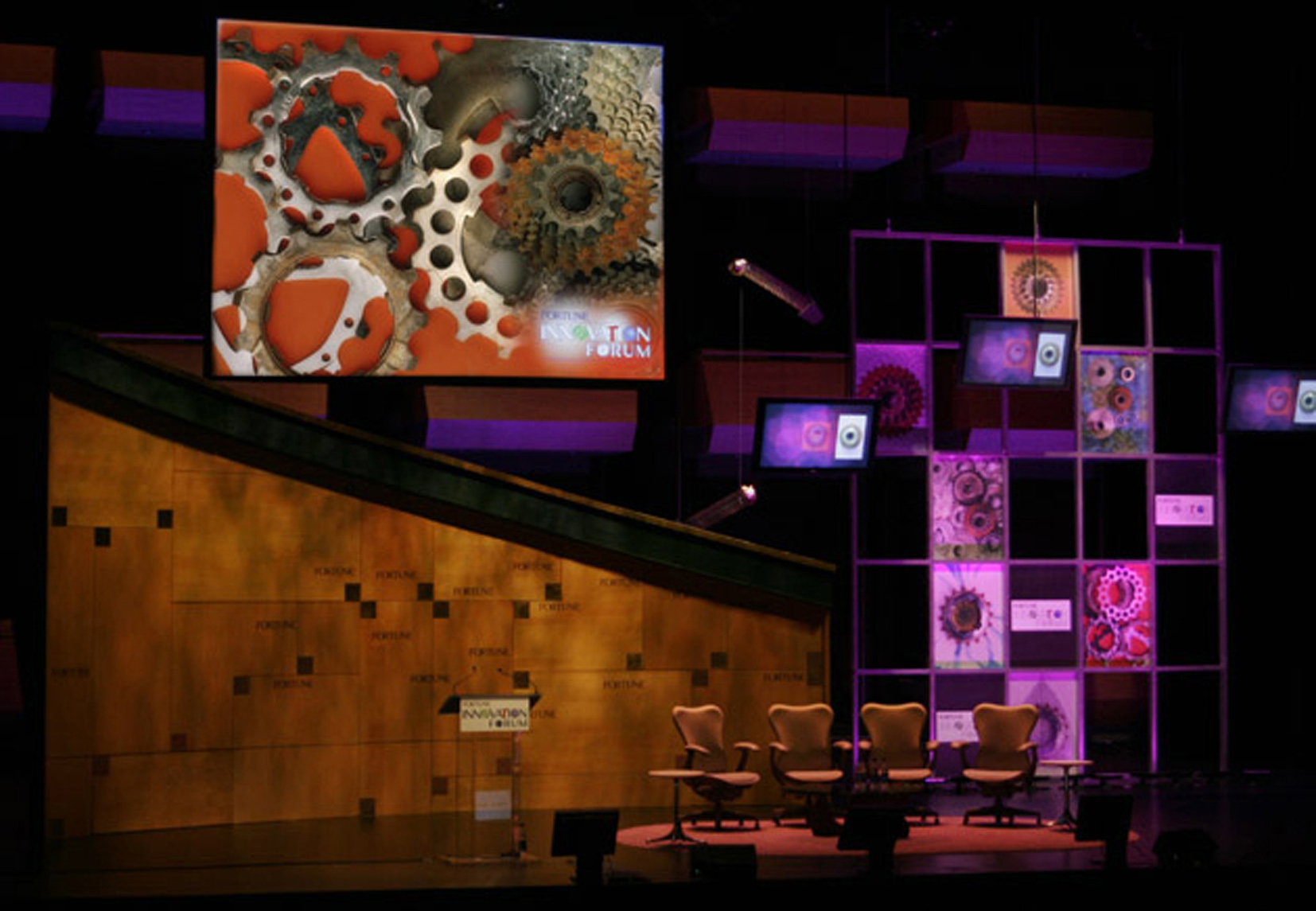 Stage Set Design Innovations Forum Fortune Mag NYC