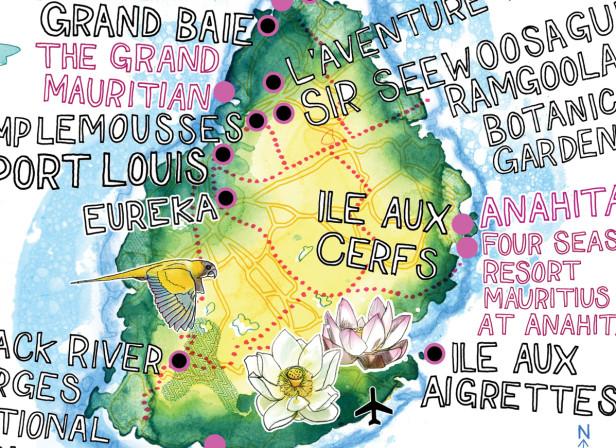 Mauritius Map / Conde Nast Traveller