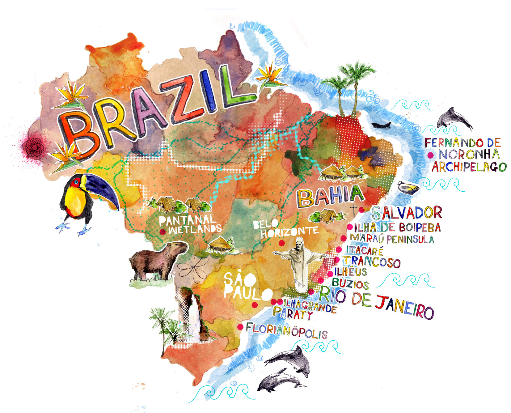 Map of Brazil / Conde Nast Traveller